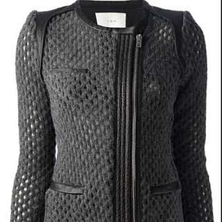 IRO Leather And Wool Biker Style Jacket New Without Tags Size 38