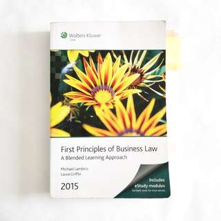 First Principles of Business Law 2015