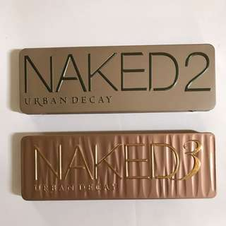 Urban Decay Naked 2 & 3 Palettes