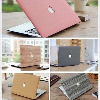 MacBook 木紋保護殼 MacBook Pro 13 15 MacBook Air 13 保護套 送 防塵塞 鍵盤膜