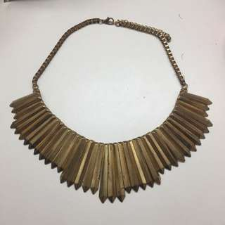 Vintage Egyptian Style Gold Necklace