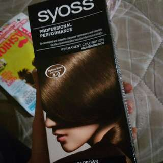 SYOSS MEDIUM BROWN HAIR COLOURING