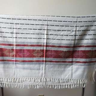 White And Red Blanket Scarf