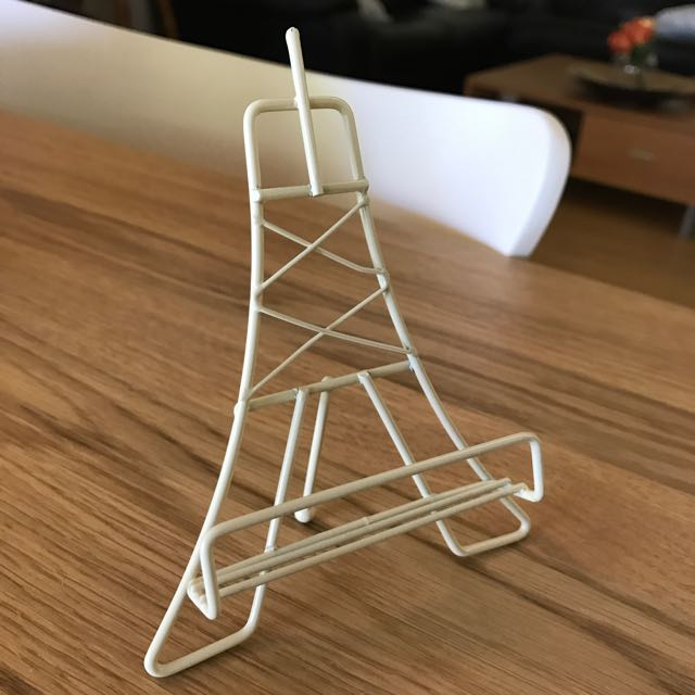 12x Mini Eiffel Tower Shaped Picture Stand