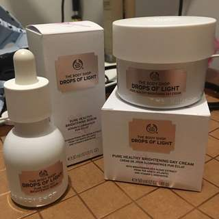 Brand new Body Shop Drops Of Light Products