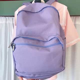 Light purple bagpack