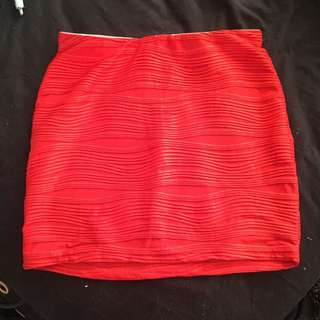 BNWT red Mini Skirt Size 10