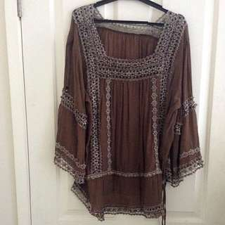 Beaded Indian Style Top