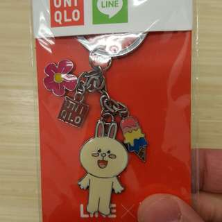 Line Cony Key Chain Fm Uniqlo