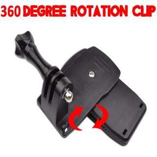 360 Degree Rotation Clip Clamp for GoPro SJCAM Xiaomi Xiaoyi Yi Camera (TGP013)