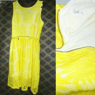 Repriced. CHILL • Vibrant Flashy Colored Dress Color Yellow #FreeDelivery