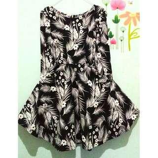 D'Live Flowery Black Dress