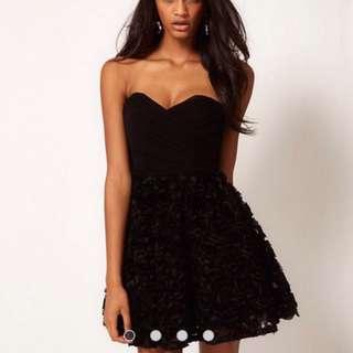 ASOS BLACK ROSE DRESS