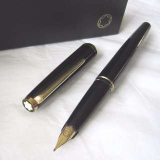 Stunning Men MONT BLANC Meisterstuck Fountain Ink Pen, 14K 585 Tip, Made in GERMANY, with original Box