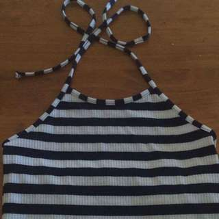 Strippy Tie Up Top