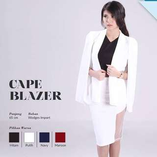 Cape Blazer In White