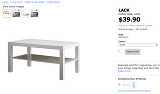 Ikea White color Coffee Table##Moving house Clearance