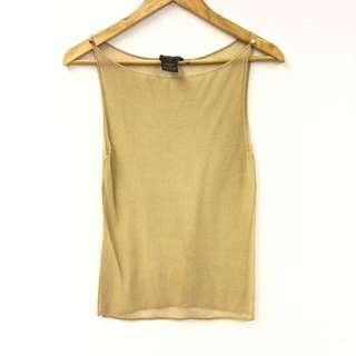 LV gold knit vest size S