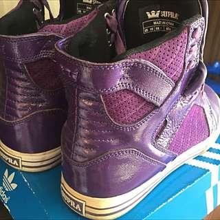 Supra Hightop Sneakers Purple