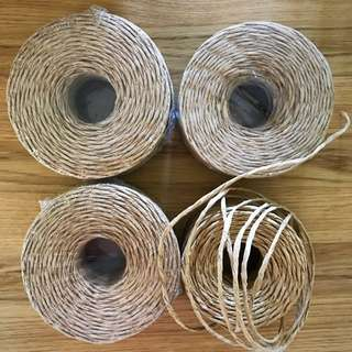 4 Rolls Of Brown Paper Twine