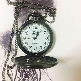 復古雕花古銅懷錶(長