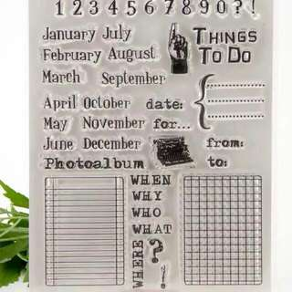 Last C55 Planner Grid & Month Clear Stamp Set
