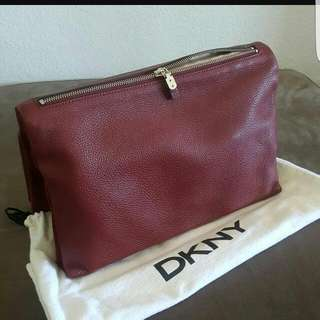 DKNY Foldover Leather Clutch