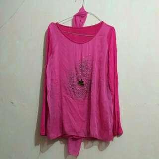 Blouse Pink (inc. Syal)