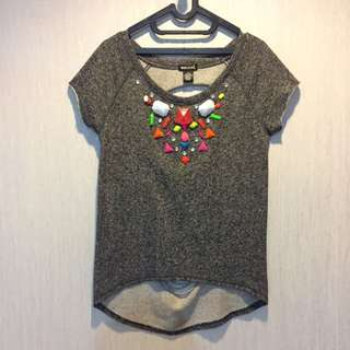 Dark Grey Funky Top
