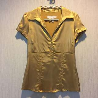 Gold Office Shirt