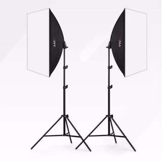 Double Softbox + 2m Light Stand + 175W Bulb Studio Photography Kit
