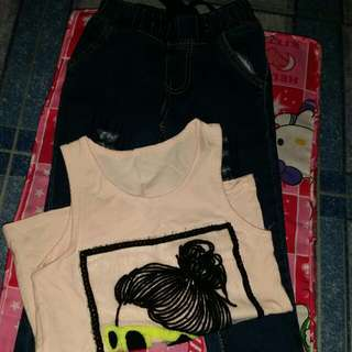 kids skinny jeans and shirt