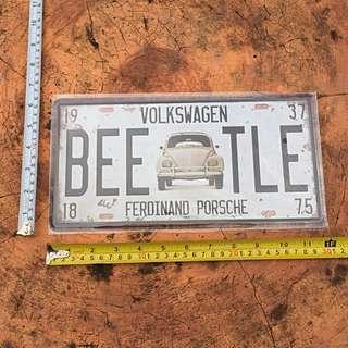 Volkswagen Beetle Plaque