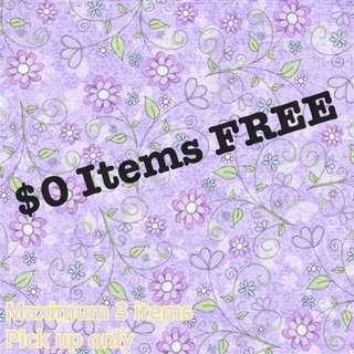 $0 Items FREE
