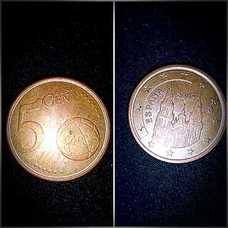 Old Coins 5 Euro Cent 2005
