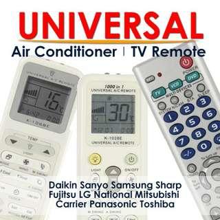 Universal Aircon Air Con Remote Controller Daikin Sanyo Samsung Sharp Fujitsu LG National Toshiba Hitachi Mitsubishi Pansonic Fujitsu York Carrier