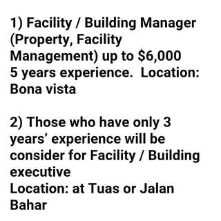 Facility / Building Manager And Executive