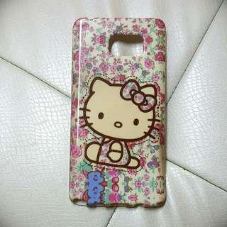 Samsung Note5 三星手機殼鄉村風花花Hello Kitty手機殼