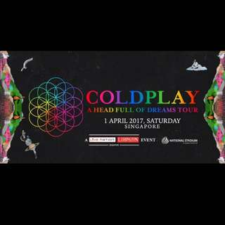 Tickets Coldplay Singapore (1 April 2017)