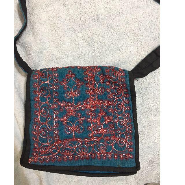 異國風純手工藍色包包