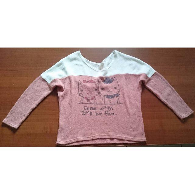 《免運費》粉紅色貓咪針織上衣 #運費我來出#含運最划算