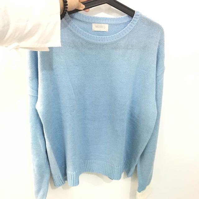 【全新】滾邊設計毛衣