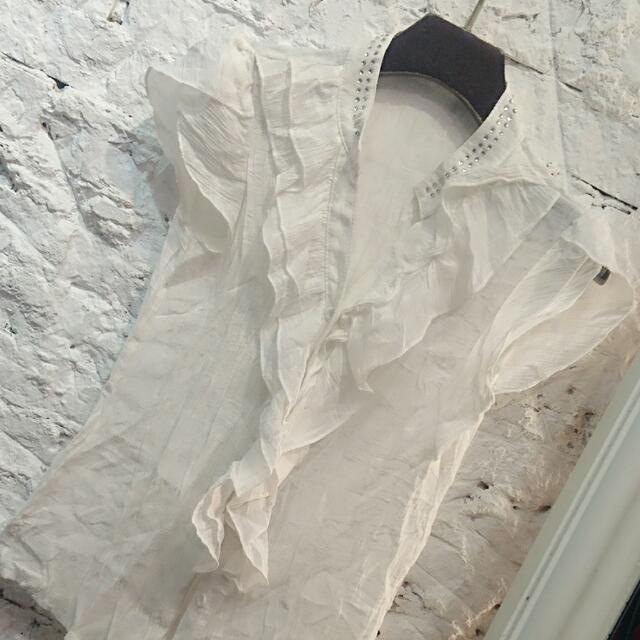 白色小小袖優雅上衣