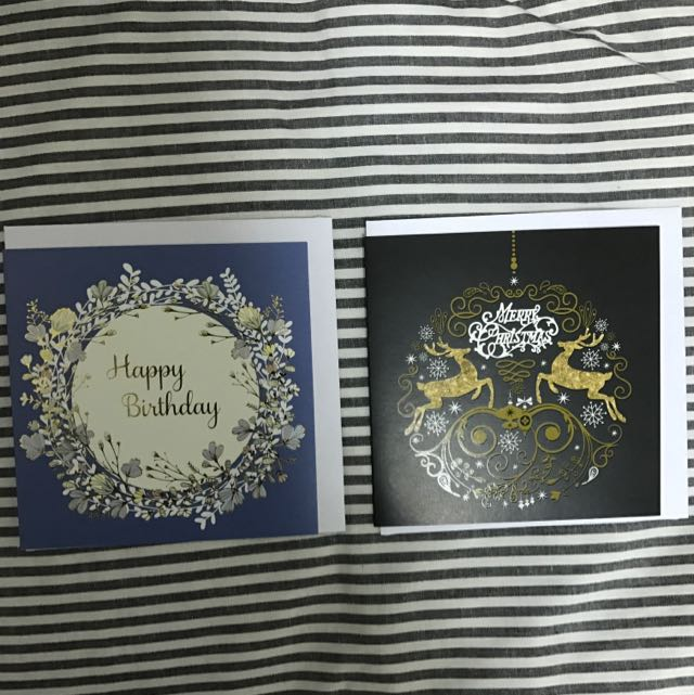 澳洲購入)生日卡片跟聖誕節卡片