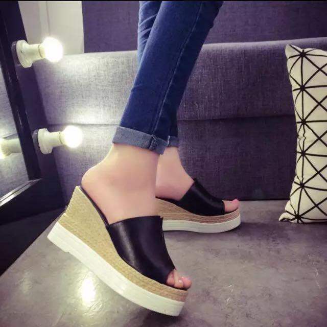 厚底高跟鞋 涼鞋 有蝦皮