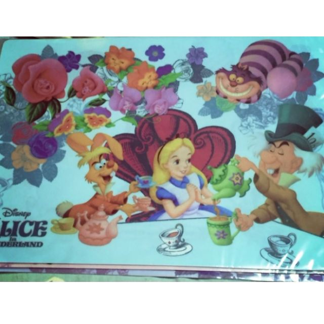 【日本東京迪士尼 愛麗絲夢遊仙境 A4資料夾】妙妙貓 瘋帽子 下午茶 三月兔