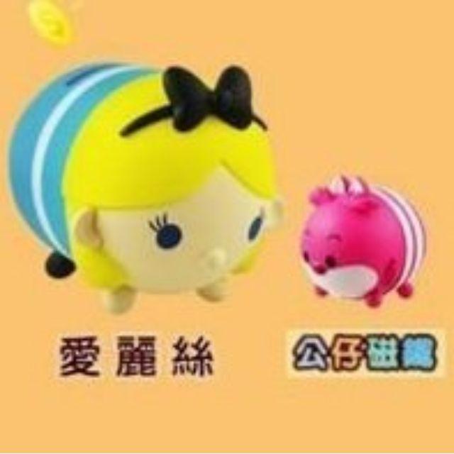 【全家 愛麗絲夢遊仙境 tsum tsum 存錢筒】擺飾 公仔 妙妙貓 時間兔