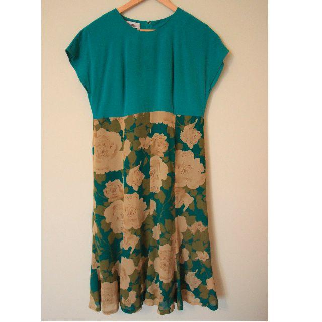 | JP VINTAGE | Green x Rose Dress