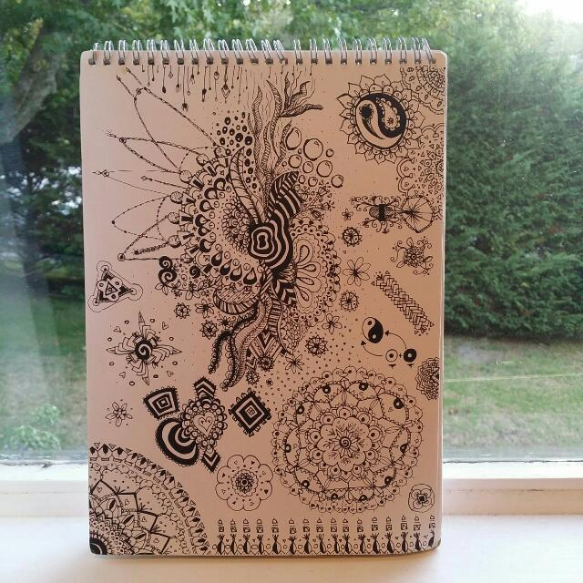 A4, Fineline Black Doodle, Original Hand Drawn Artwork By Kayla Newman