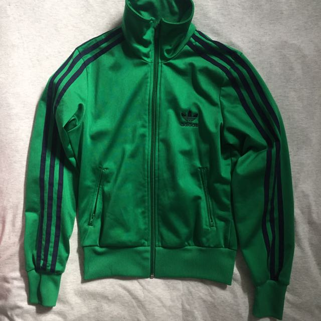 Adidas Track Jacket in Kelly Green